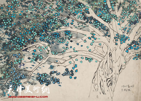 吴燃作品《桂林市内大榕树》