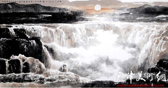 庞雨作品:《黄河之水天上来》