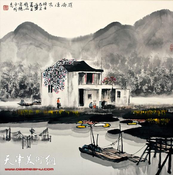 庞雨作品:《岭海渔家》