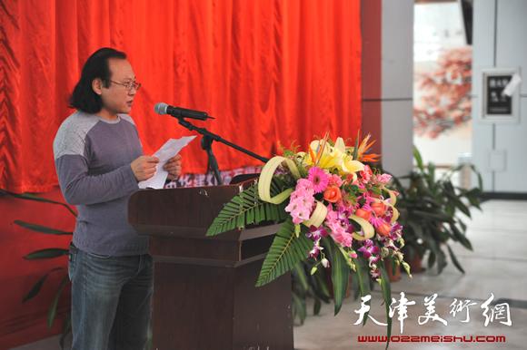 庞雨在2013作品展上讲话
