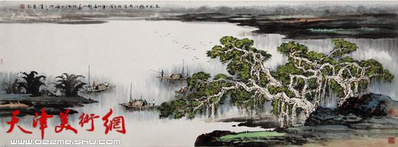 庞雨作品:《春风又绿江南岸》