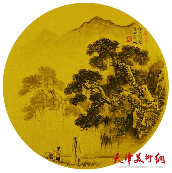 庞雨作品:《唐人诗意》