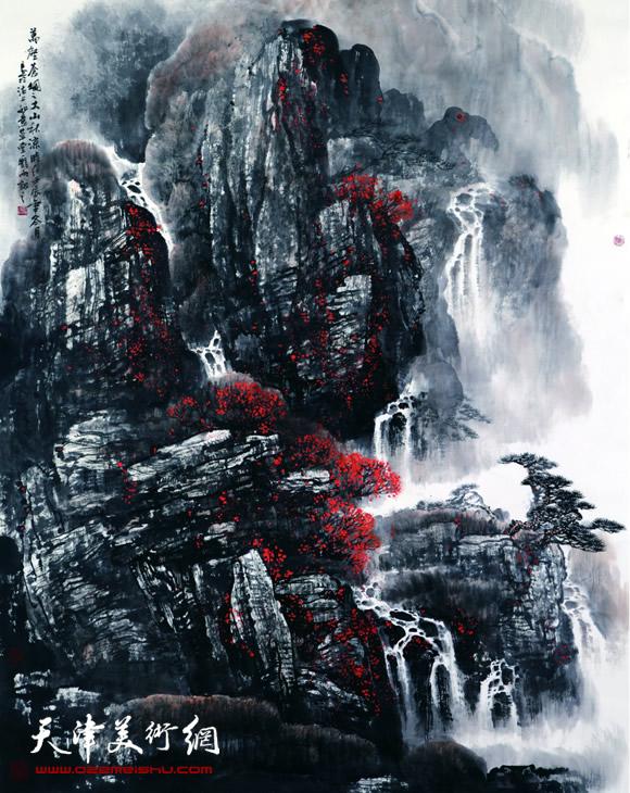 庞雨作品:《万壑苍烟》