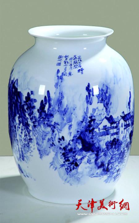 庞雨作品:潮州淡明窑灯笼瓶