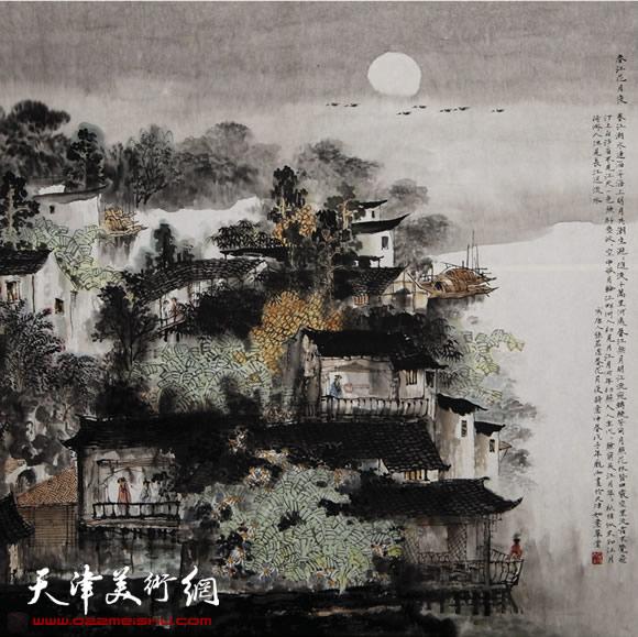 庞雨作品:《春江花月夜》
