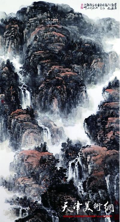 庞雨作品:《溪凉入九秋》