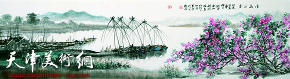 庞雨作品:《渔岛之春》