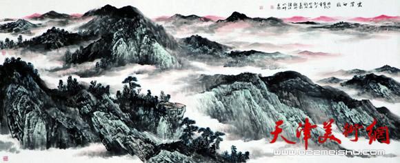 庞雨作品:《云崖初暖》