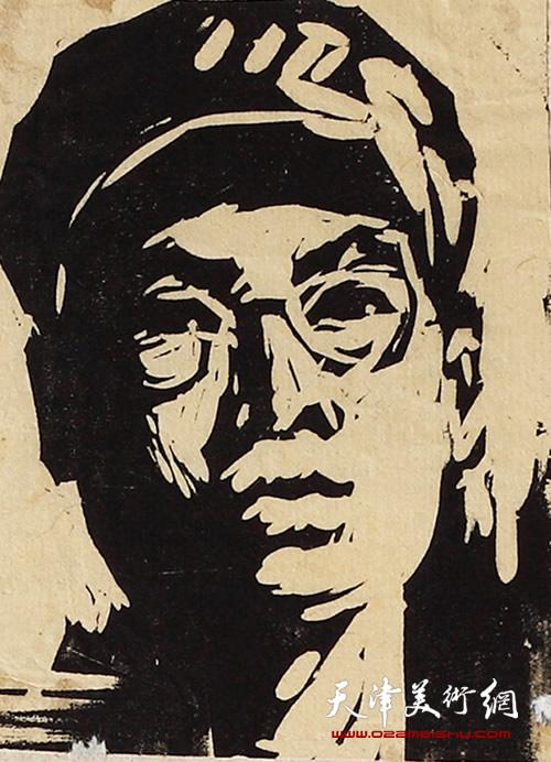 王绍棠作品《自刻像》