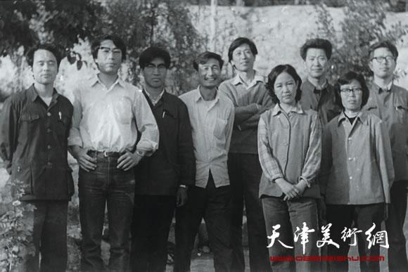 1983年参加天津群艺馆盘山版画培训班