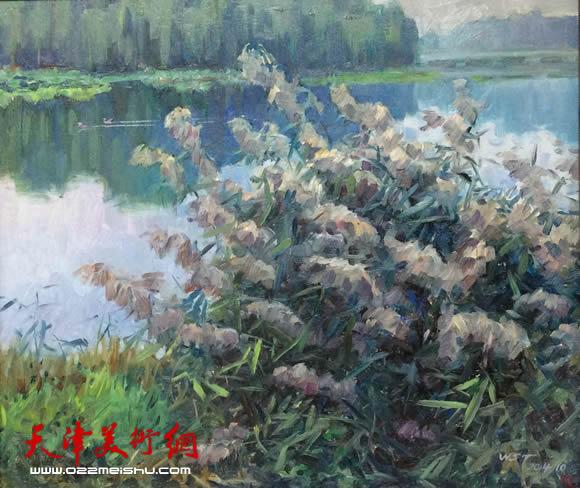 王绍棠作品《芦花飘香》油画