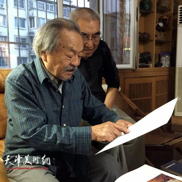 王绍棠拜访吴燃先生。(2015年9月)