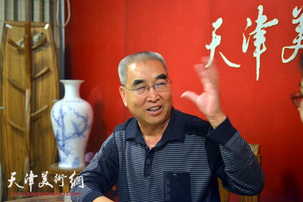 著名画家王绍棠做客天津美术网访谈