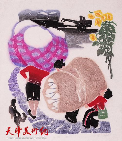 王绍棠作品《交棉趣》纸版