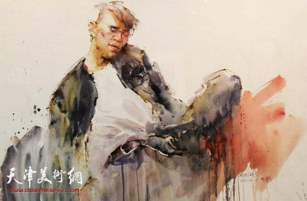 朱志刚水彩作品:《醉》