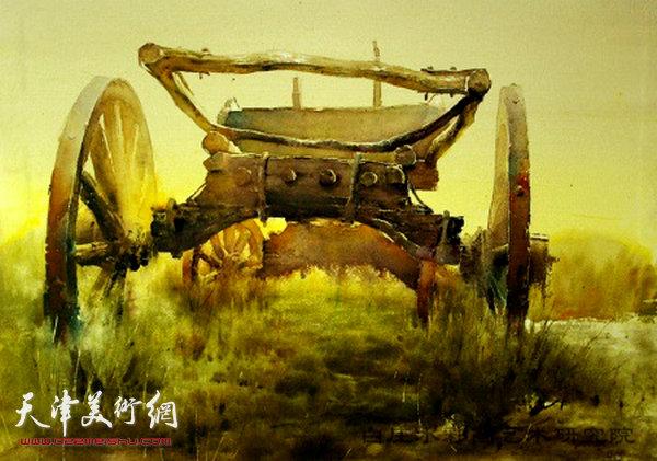 朱志刚水彩作品:《遥远的地平线》