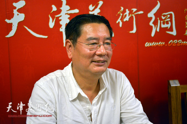 著名画家张佩钢做客天津美术网