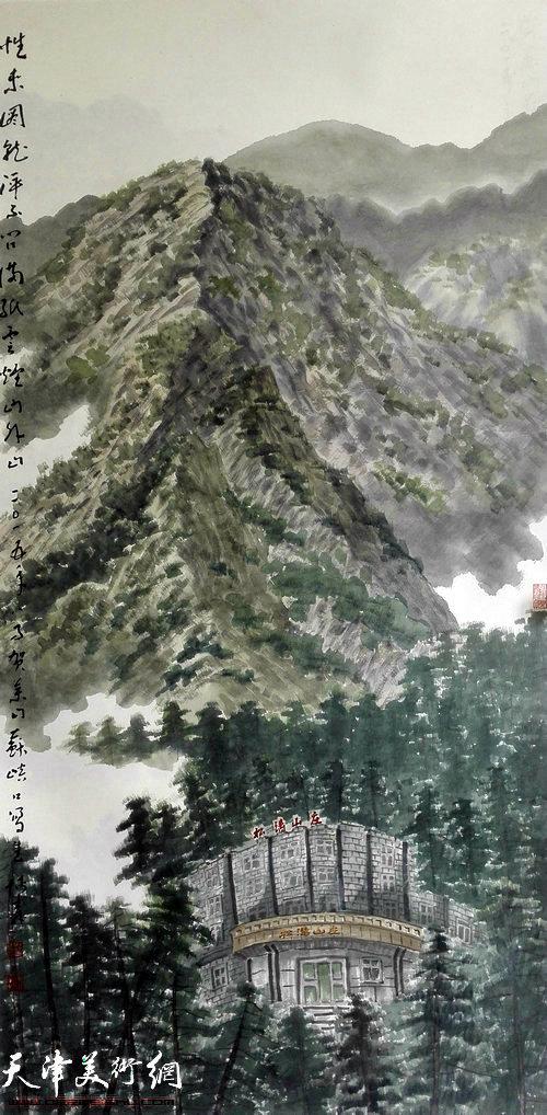 柴博森贺兰山写生作品。