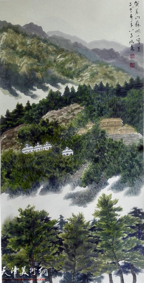 组图:著名画家柴博森应邀到宁夏贺兰山写生