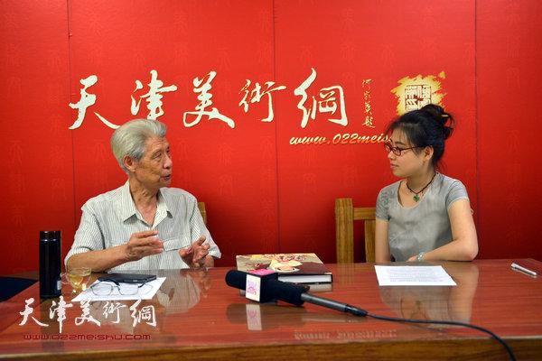 著名画家杨德树做客天津美术网
