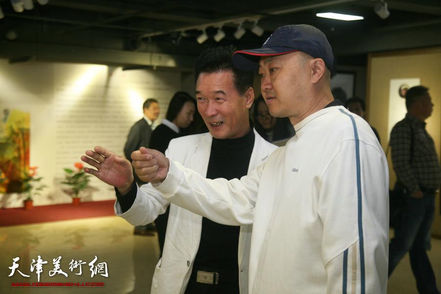 水墨缘·张培础、季平师生画展在天津人民美术出版社美术馆开幕