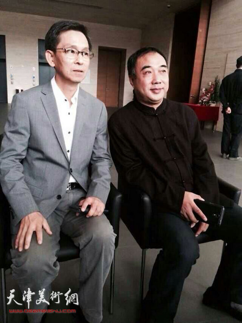 何家英、皮守东在天津。 (2015年)