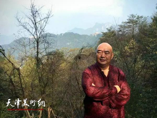 组图:天津美协副主席尹沧海赴安徽九华山写生