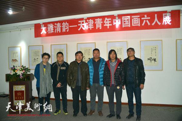 4参展的六位青年画家,左起:范馨心、爱新觉罗·伯骧、刘峰、王润、李云涛、韩佳男.jpg