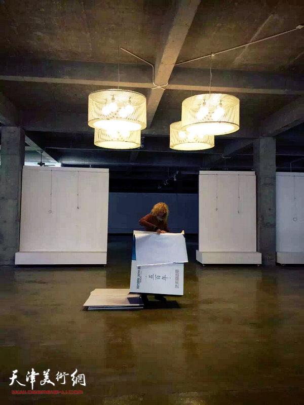"""图为""""不仅是过程,也是结果""""当代实验艺术巡回展2布展现场。"""
