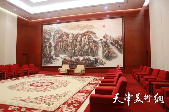 赵俊山作品《千岩竞秀沐朝阳》12米8米 2