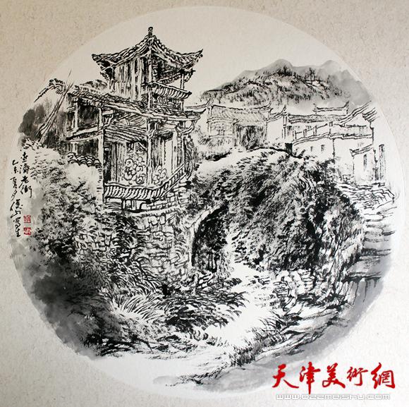 赵俊山作品《查济老街》