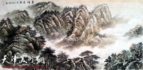 赵俊山作品《翠峰朝阳》