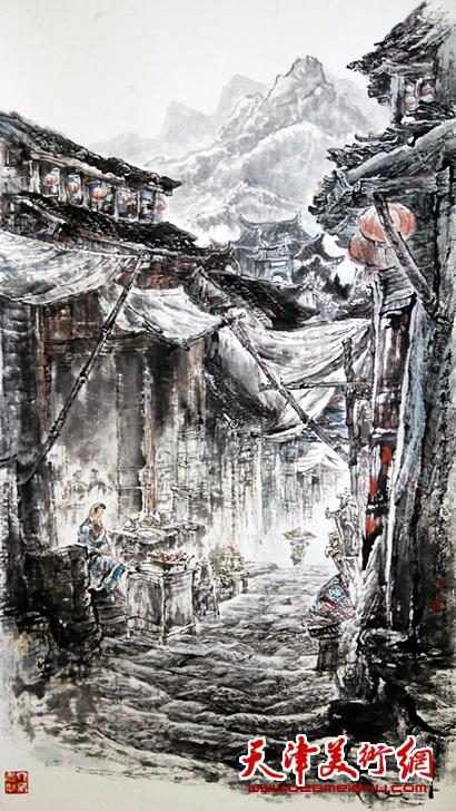 赵俊山作品《青岩古镇》