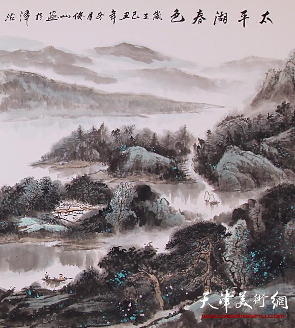 赵俊山作品《太平湖春色》局部图