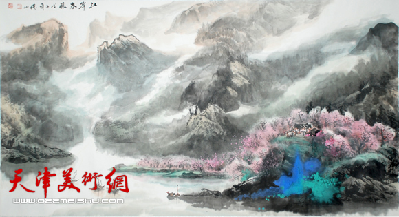 赵俊山作品《江岸春风》