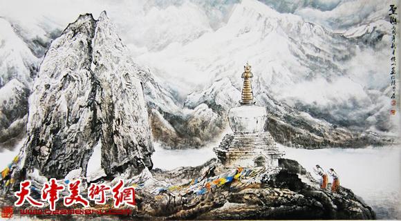赵俊山作品《圣湖》