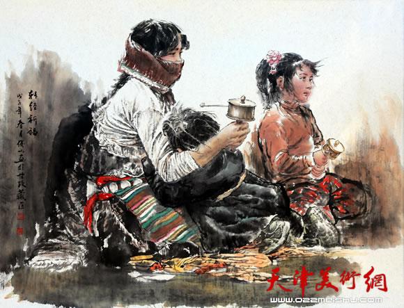 赵俊山作品《转经祈福》