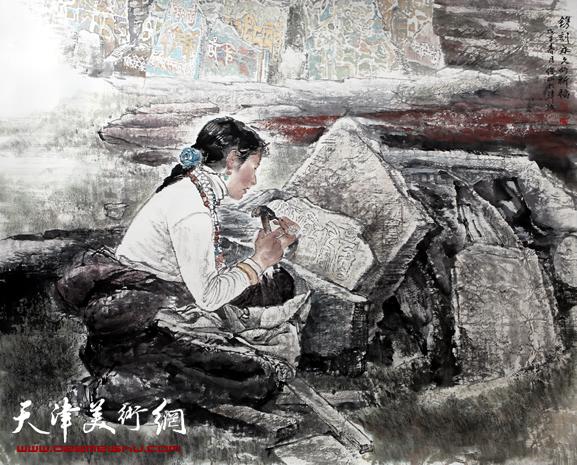 赵俊山作品《镌刻永久的祈福》