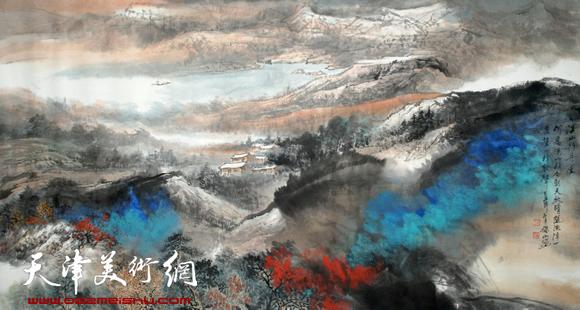 赵俊山作品《溪山行舟图》