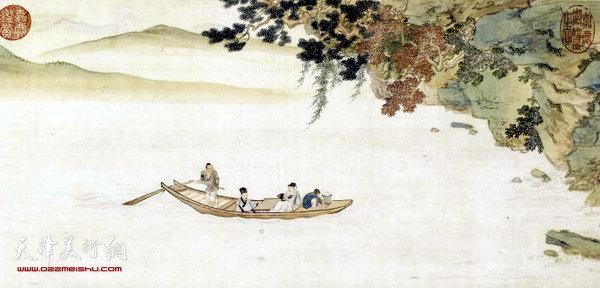 苏州园林扇形画