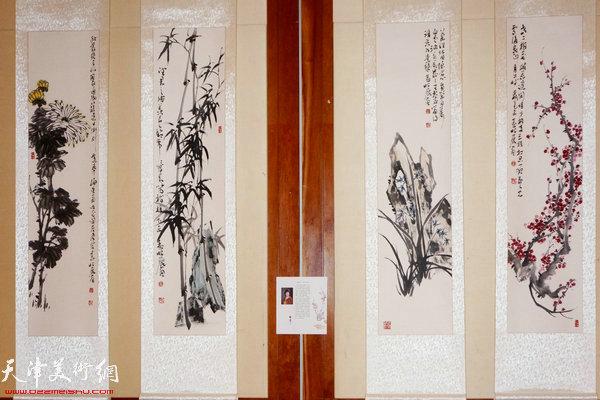 """图为""""海上丝路传风韵""""五彩贝中国画展展出的孟昭丽作品"""