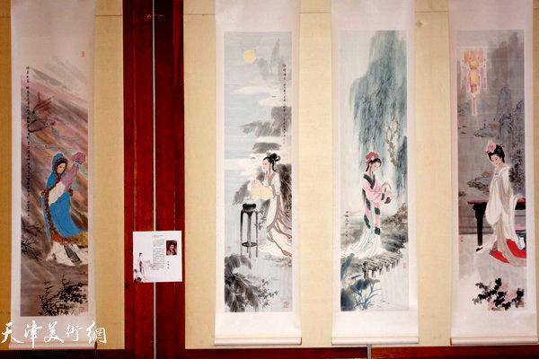 """图为""""海上丝路传风韵""""五彩贝中国画展展出的肖慧珠作品"""