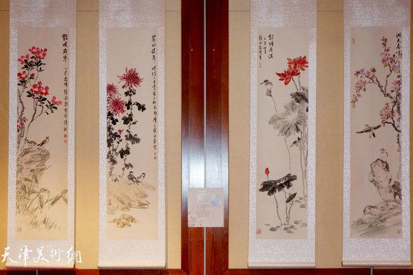 """图为""""海上丝路传风韵""""五彩贝中国画展展出的张永敬作品"""