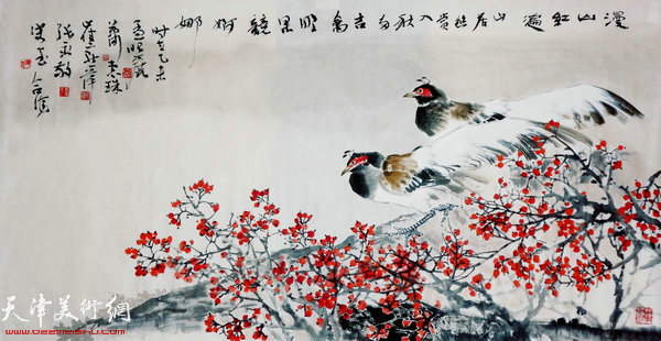图为津门五彩贝合作的作品。