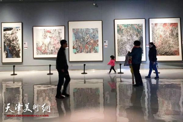 第二届中国梦·翰墨缘五画院联展展览现场。