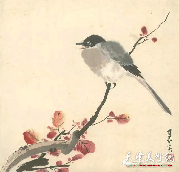 张其翼绘制的鸟兽八开册页