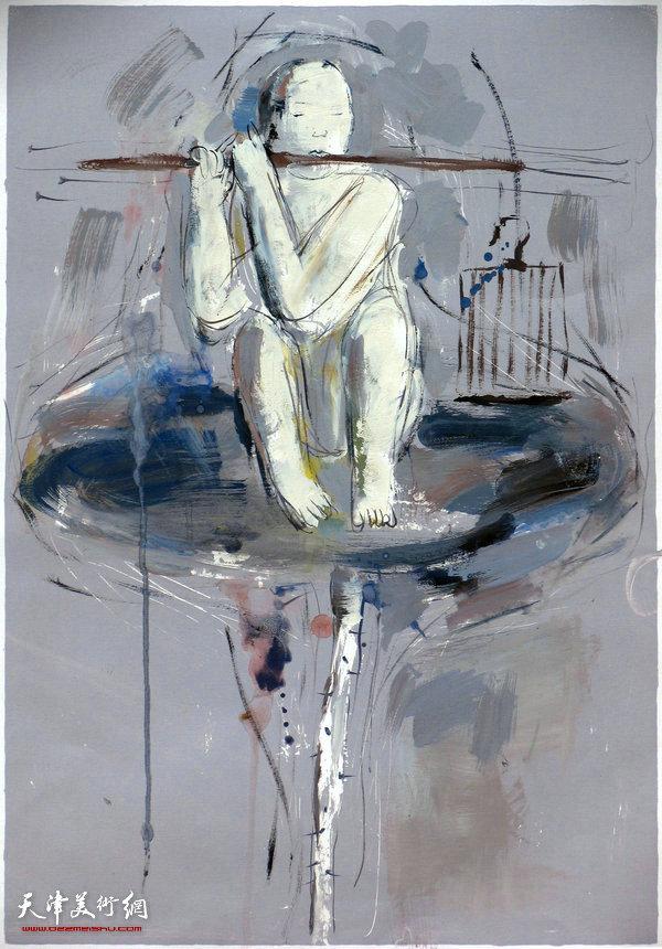 《无题》丝网版画 李旺90X70cm 2011年