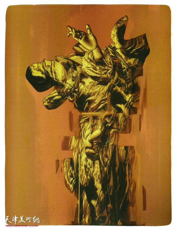 《偶20》石版画 50X60cm 范敏 2011年