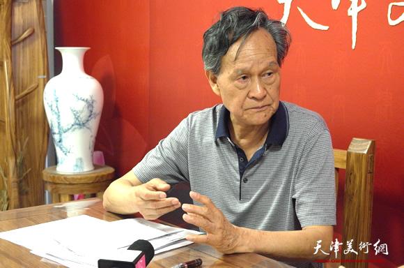 著名画家李存伟做客天津美术网