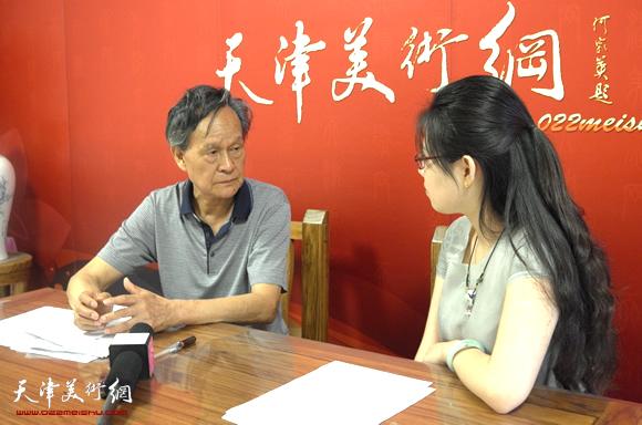 著名畫家李存偉做客天津美術網